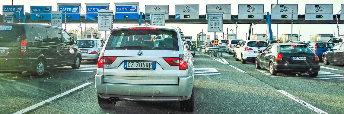 Toll roads and tolls fares in Spain, Italy, Austria and