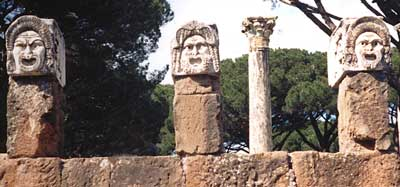 Sculptures in Ostia Antica